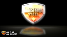 Armstrong Steel Glow Wallpaper